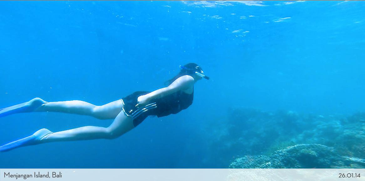 Marina free dive in Menjangan Bali