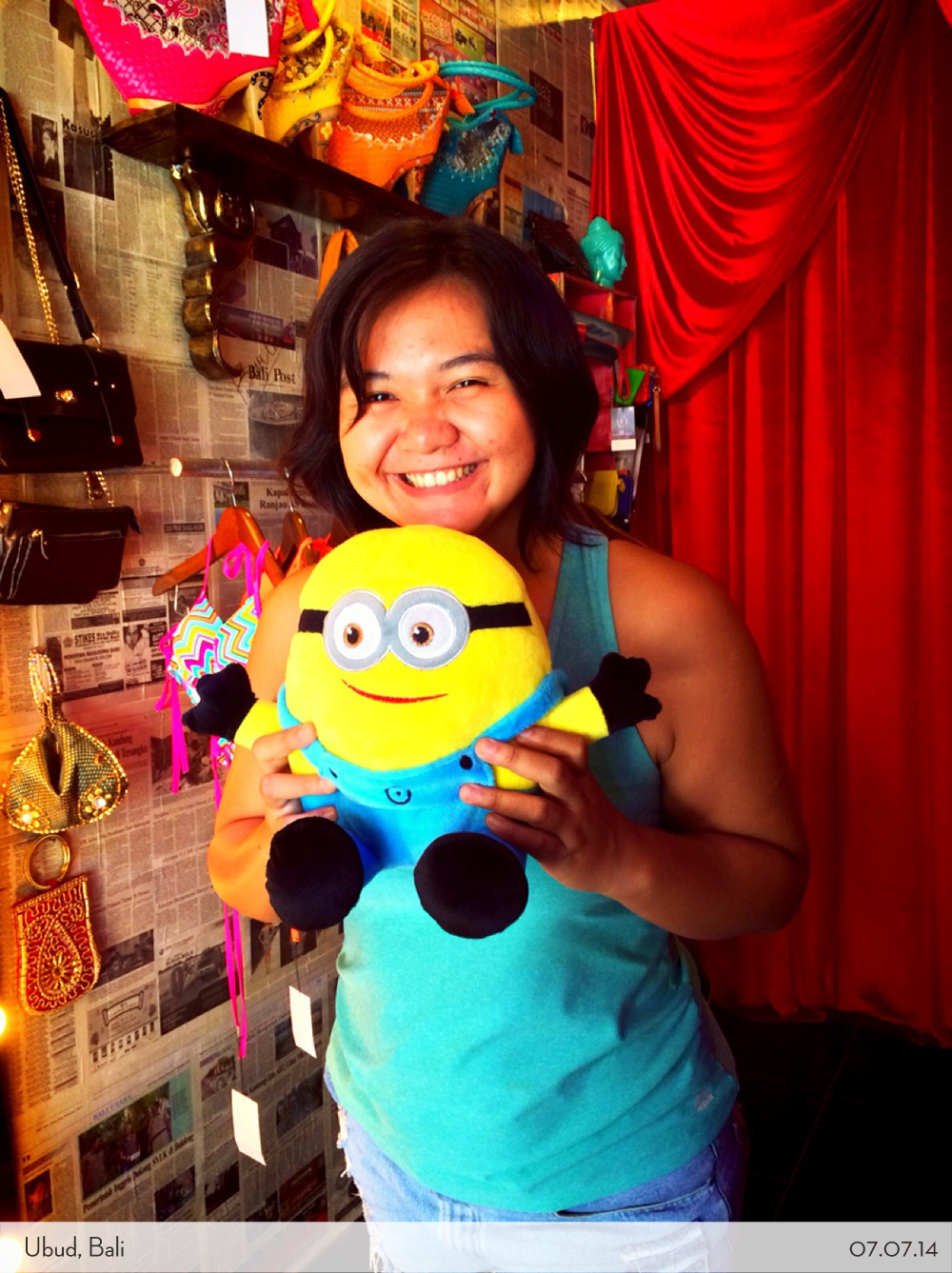 Marina with Minion doll