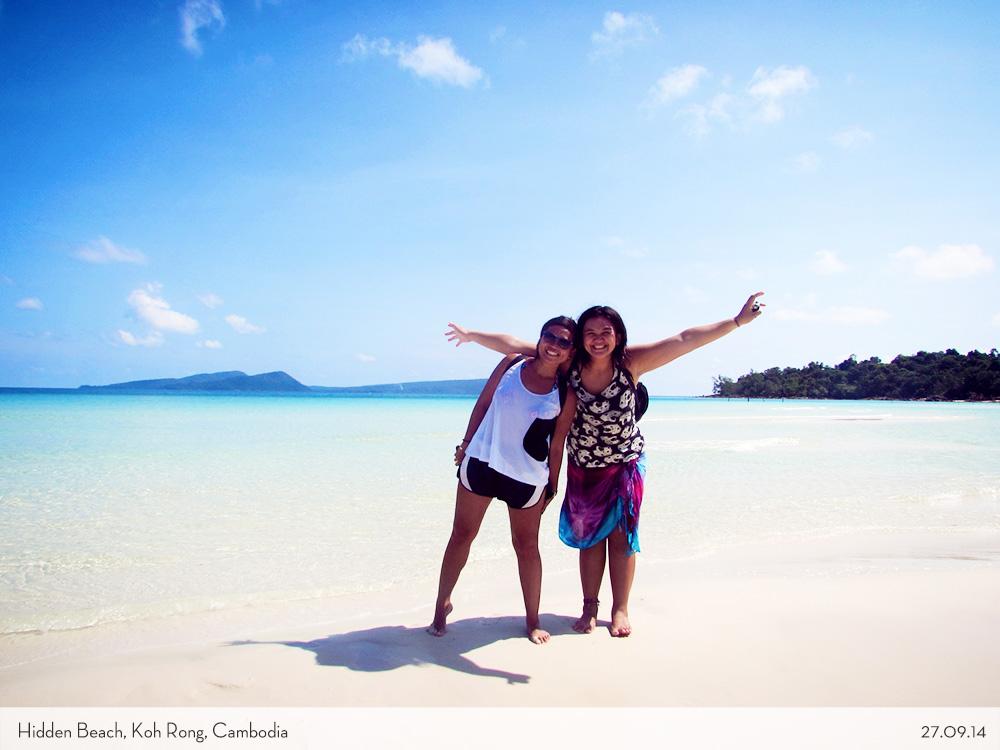 Marina and Arma at Koh Rong Lagoon