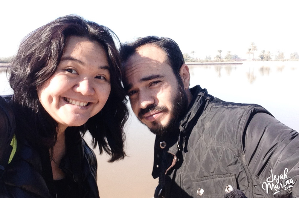 Marina with Couchsurfing host in Morocco
