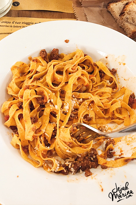 Bolognesse Sauce in Bologna Italy