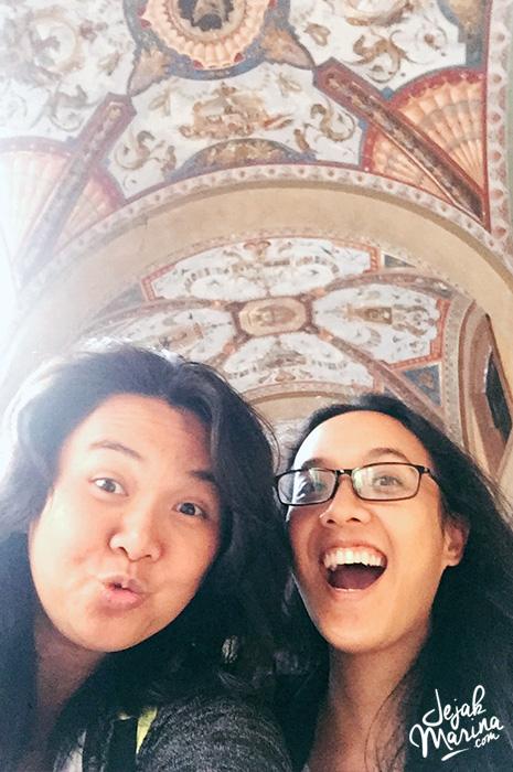 Marina and Egie in Bologna Italy