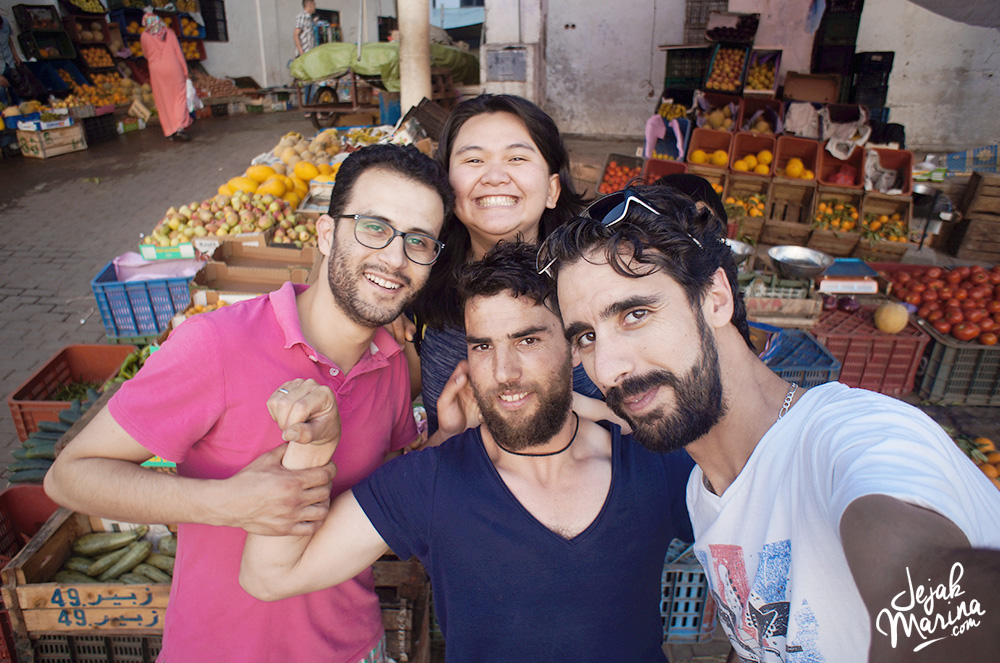 Marina with friends in Chefchaouen Morocco