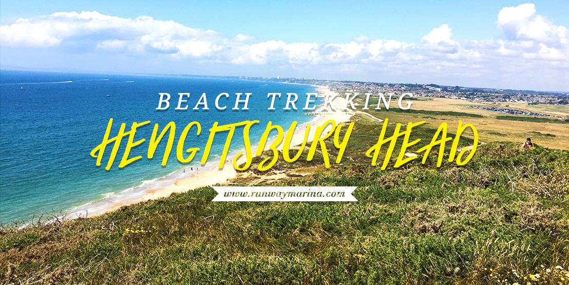 Beach Trekking at Hengitsbury Head Bournemouth UK