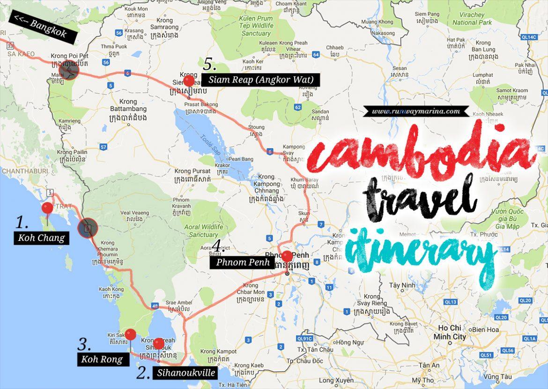 Cambodia Travel Itinerary Runway Marina Jejak Marina