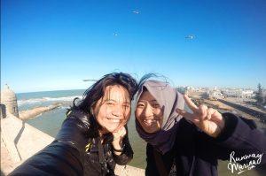 Marina and Rani in Essaouira